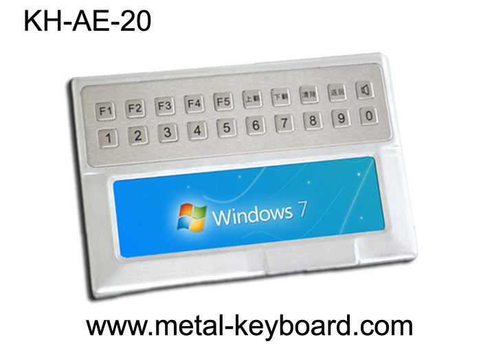 Weather - proof Stainless Steel Ruggedized Keyboard with 20 keys for Medical Kiosk