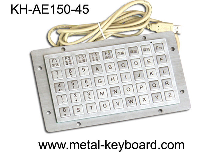 IP65 Rated Anti Vandal Industrial Computer Keyboard with 45 Keys Function Keypad