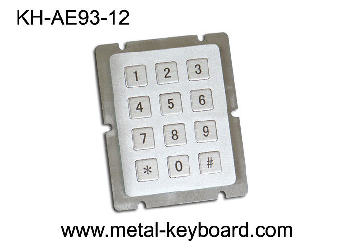 12 Keys Dot Matrix Dynamic Metal Keypad Access Control 4 x 3