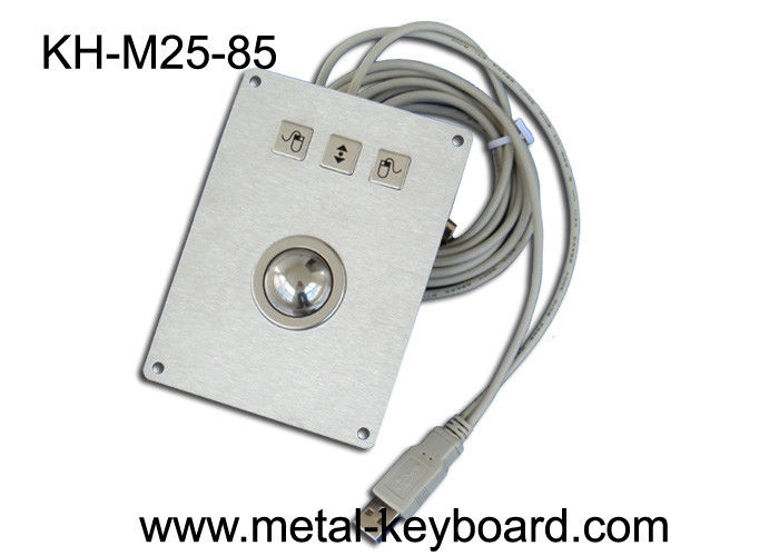 Rugged Kiosk Pointing Device with 25MM Metal Laser Trackball Mouse for industrial