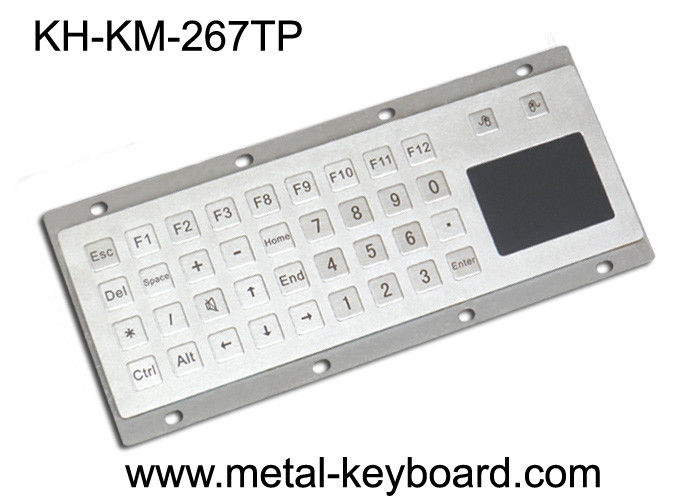 Industrial Metal Panel Mount Keyboard with Touch pad , Ruggedized Keyboard