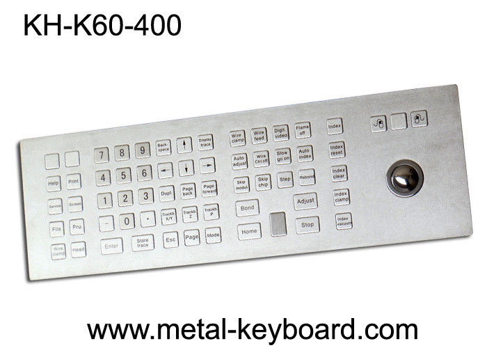 Weather - Proof Industrial Keyboard with Trackball , Kiosk trackball keyboard Metal