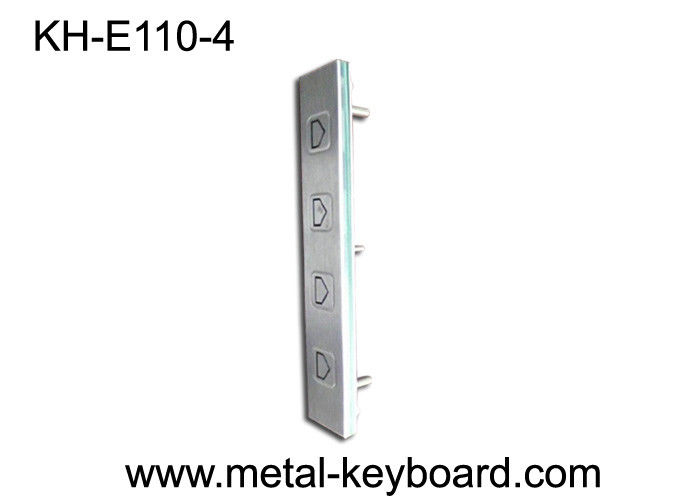 SS Rated 4 Buttons Direction Function Vandal Proof Keypad Atm / Kiosk Side Instruction Using
