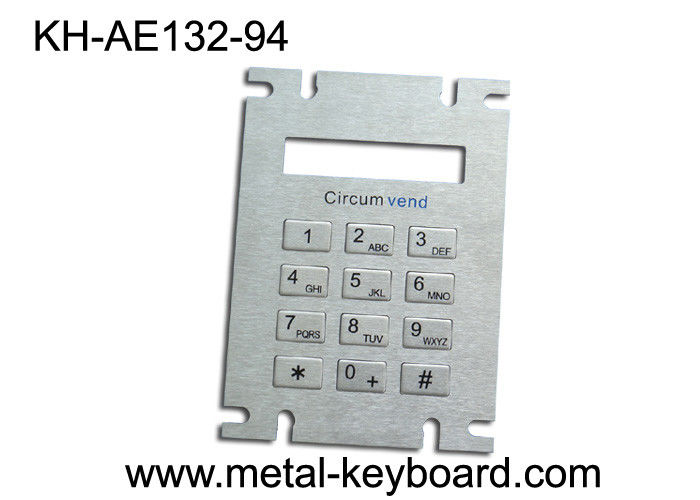 Customized Metal Panel Mount Keypad in 3x4 Matrix for LPG Filling Station