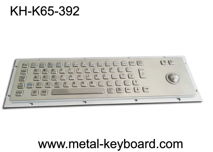 Vandalism Industrial Computer Keyboard Metal with Panel Mount Trackball