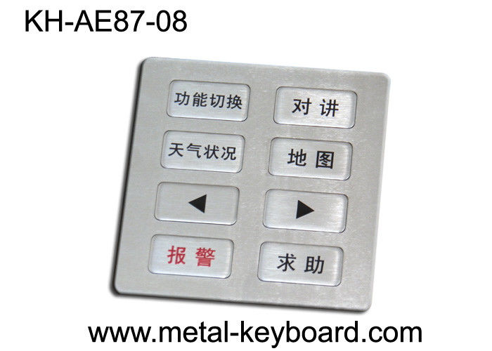 USB connection 8 Buttons keypad numeric customization layout vandal resistant